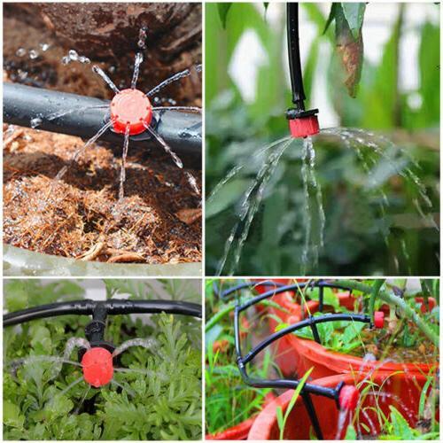 100 Adjustable Drip Irrigation Watering Emitter Dripper