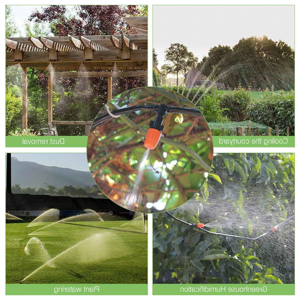 100ft Auto Irrigation Micro Sprinkler Garden Watering