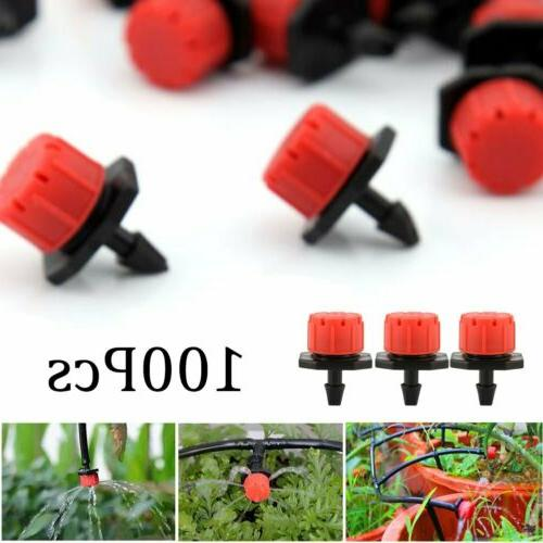 100pc adjustable emitter dripper micro drip irrigation
