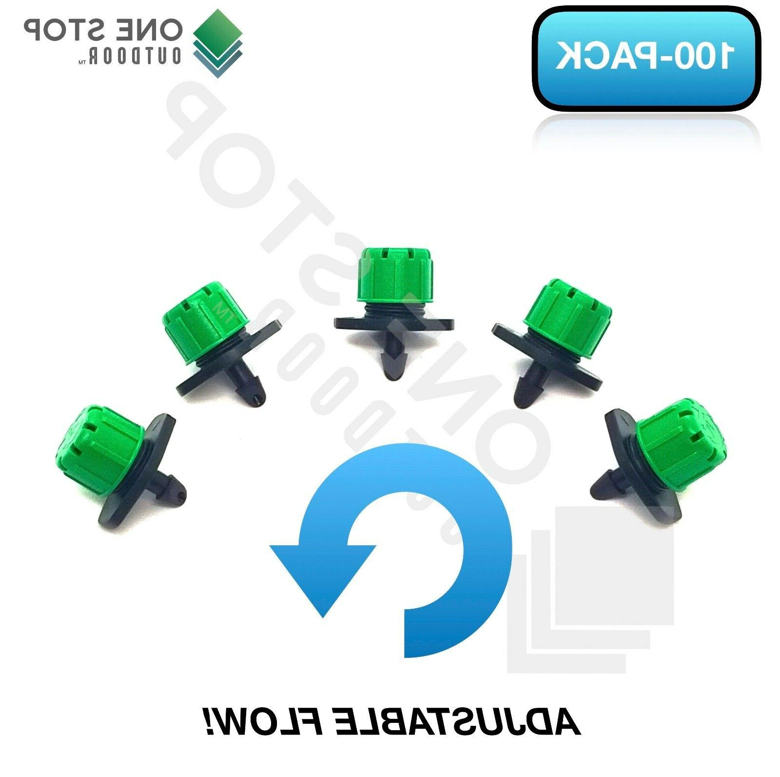 100Pc Adjustable Emitter Micro Irrigation Watering