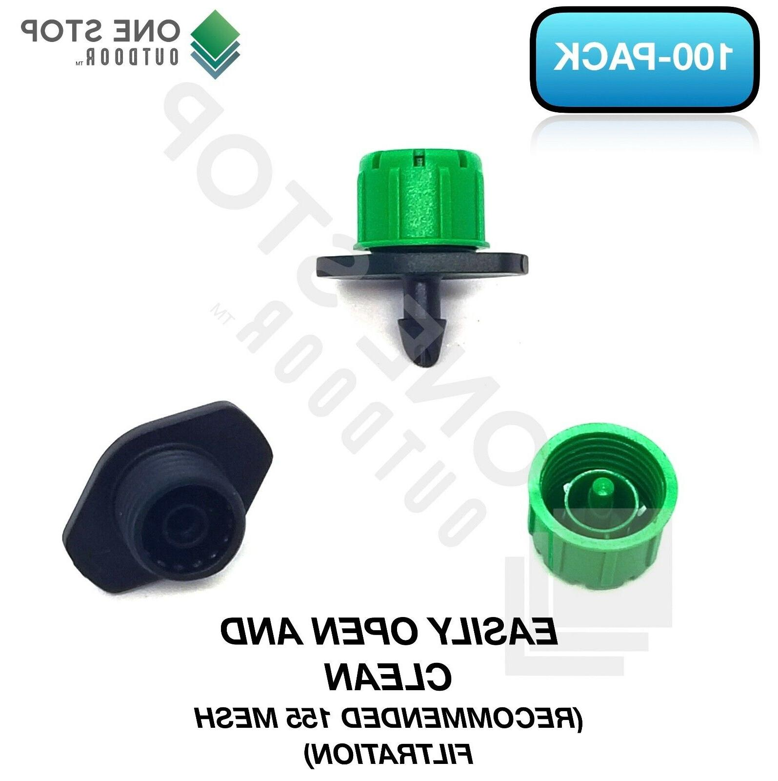 100Pc Adjustable Emitter Dripper Watering System