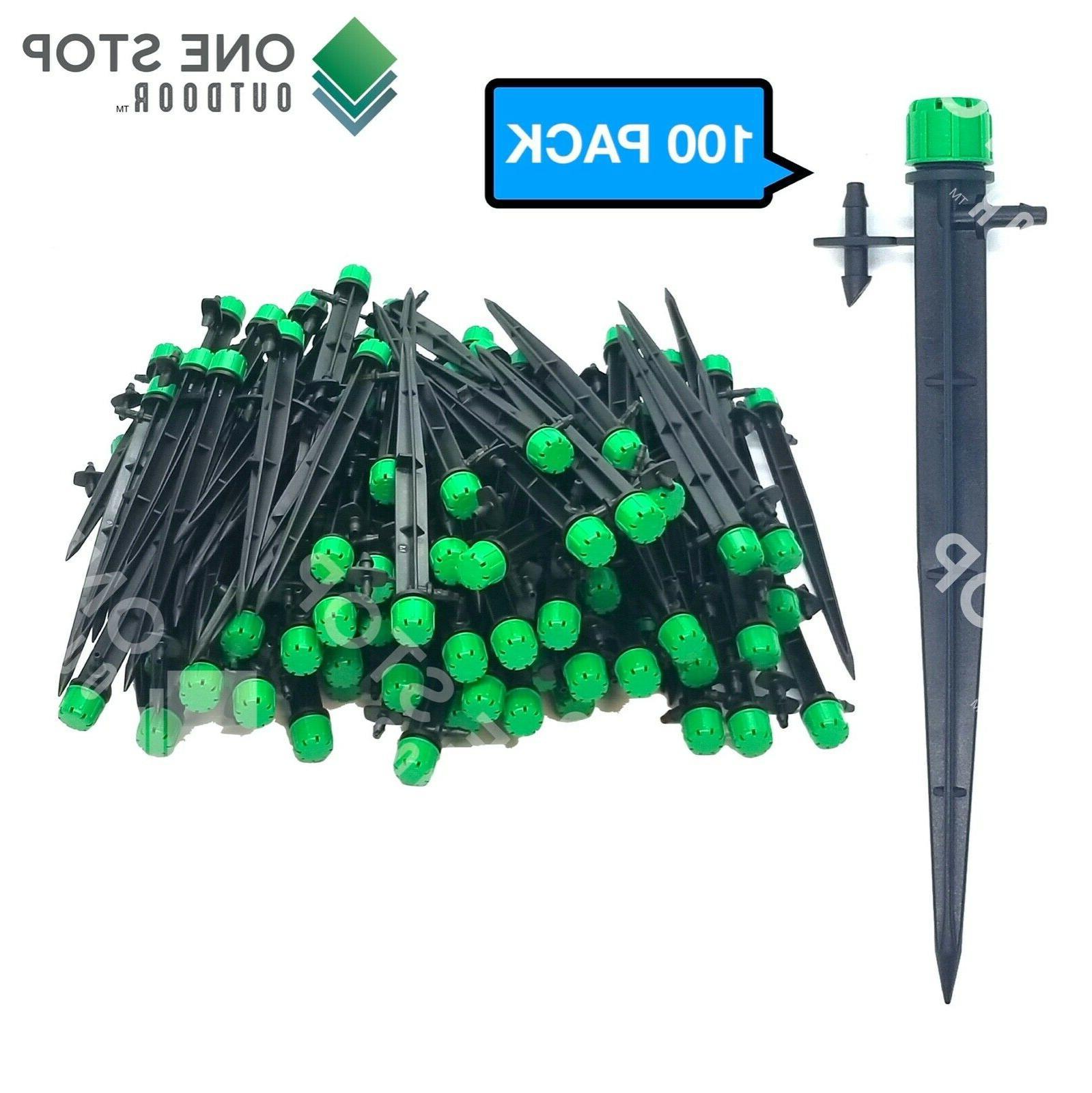 100pc adjustable emitter dripper micro drip irrigation