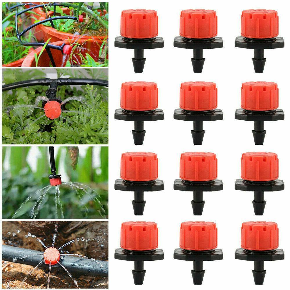 100Pcs Adjustable Emitter Flow Drip Sprinklers Watering