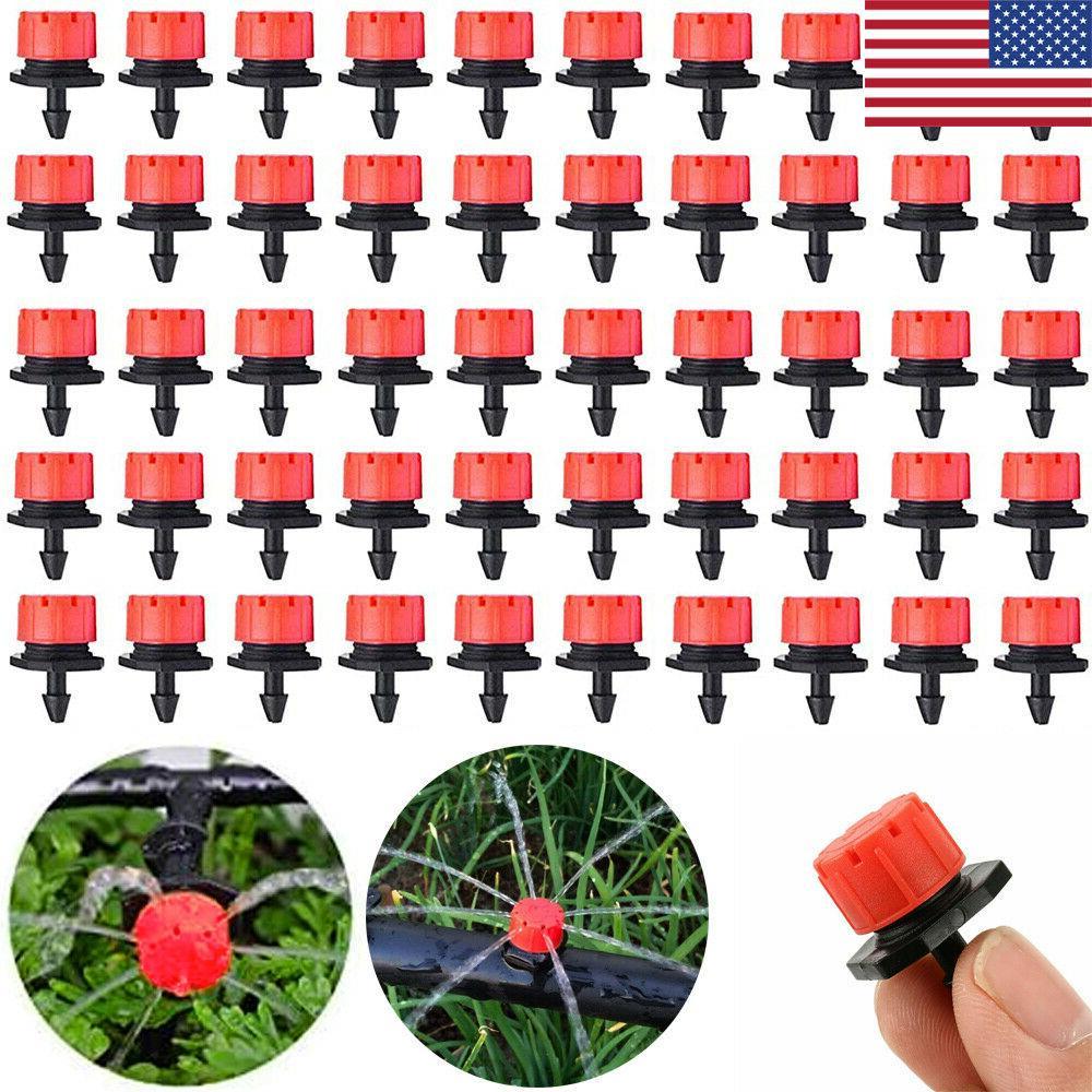 100pcs adjustable micro dripper emitter flow drip