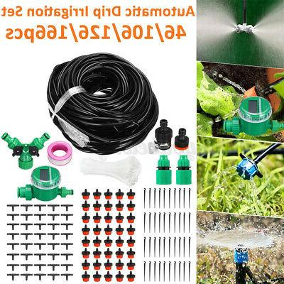 131ft automatic irrigation system hose drip sprinklers