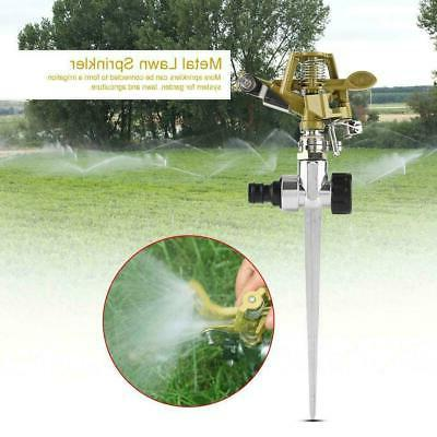 4 Pack Rotating Lawn Sprinkler Water Spray System