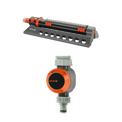 Gardena 34200 Comfort Oscillating Sprinkler with Water