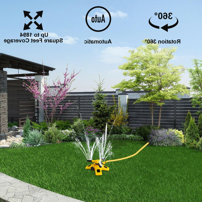 360 Garden Lawn Sprinkler Watering Yard Hose Irrigation