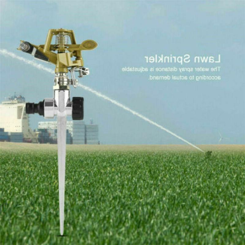 360 Degree Rotating Sprinkler Metal Grass Hose*
