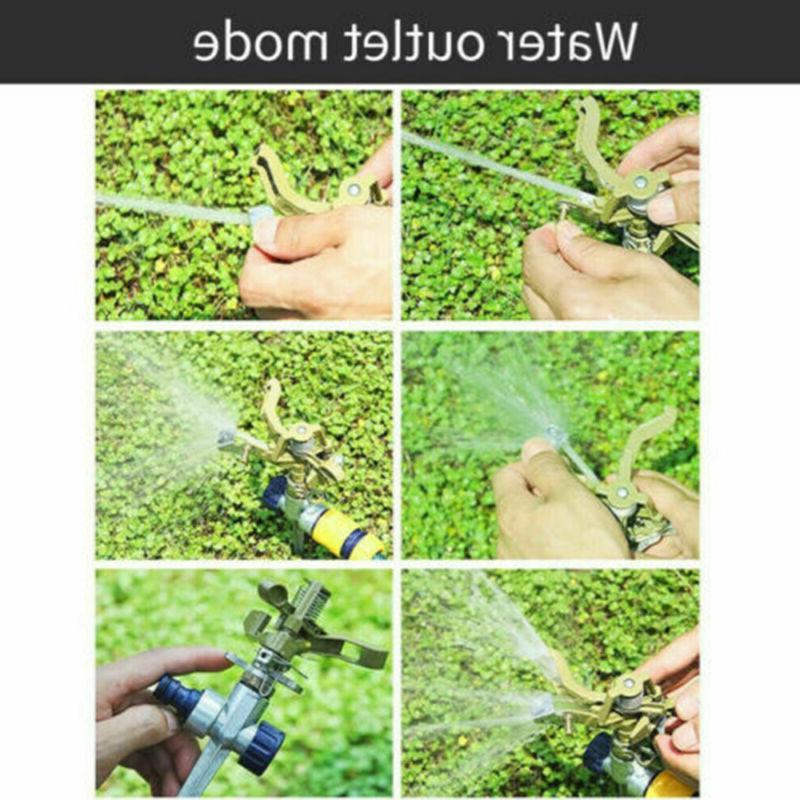 360 Degree Sprinkler Garden Lawn Impulse Metal Spike