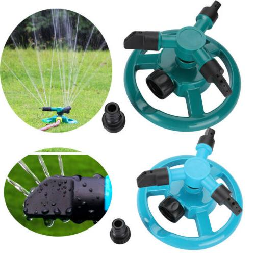 360 rotating automatic lawn water sprinkler garden