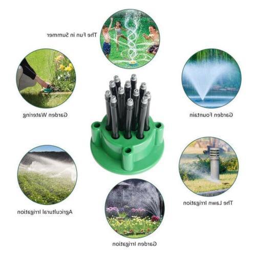 360° Automatic 12 Tubes Water Sprinklers Lawn US