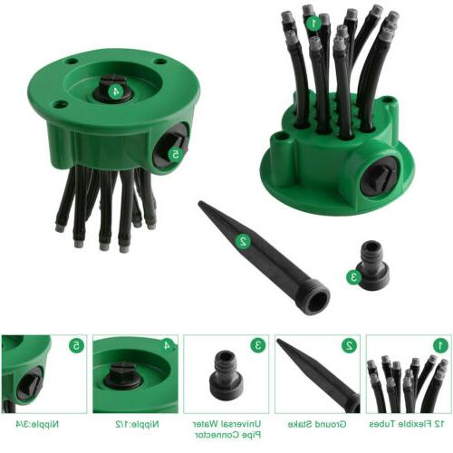 360° Rotating Lawn Automatic Tubes Garden Water Lawn US