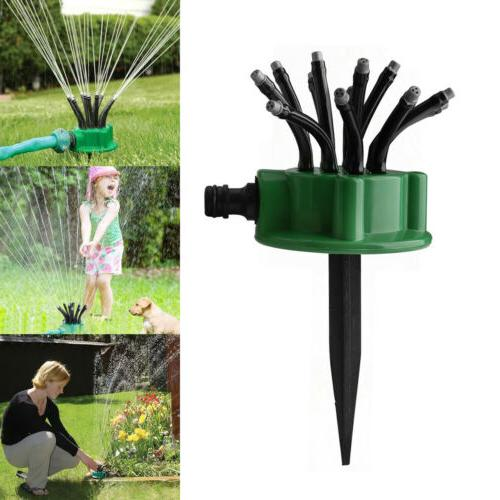 360 rotating lawn sprinkler automatic 12 tubes