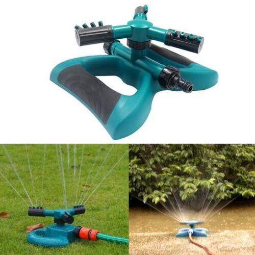360° Rotating Lawn Sprinkler Garden 3-Arms System