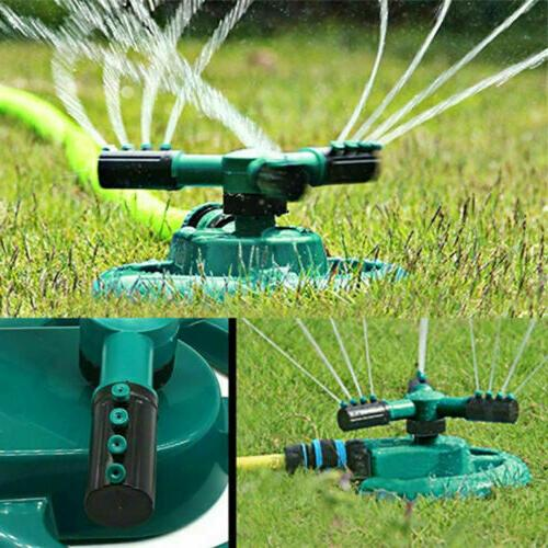 360 rotating lawn sprinkler garden automatic watering