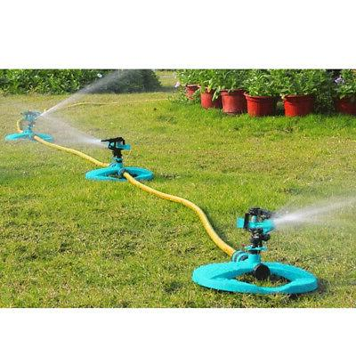 360° Rotating Lawn Garden Water Irrigation System Sprayer Spike Mist