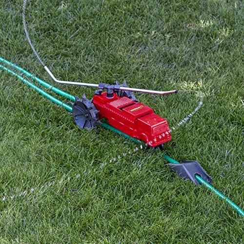 Melnor Traveling Lawn Rescue-13,500 sq. ft. Coverage Variable Speed with Spray