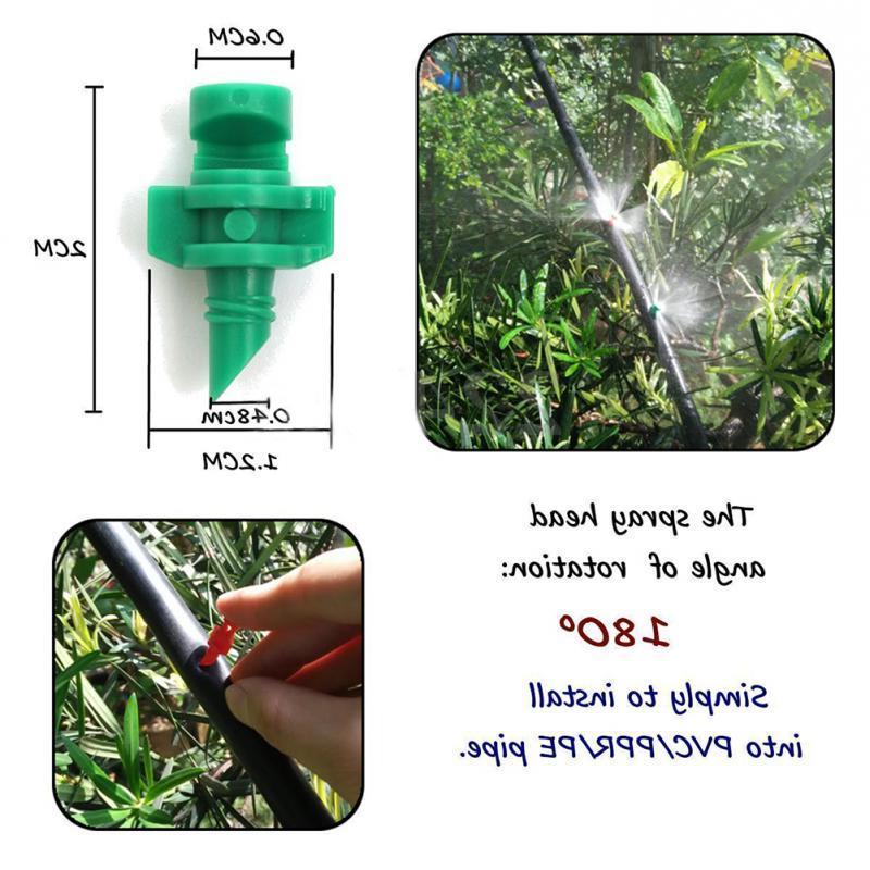 50Pcs/lot 180 Garden Lawn Misting <font><b>Nozzle</b></font> <font><b>Sprinkler</b></font> System