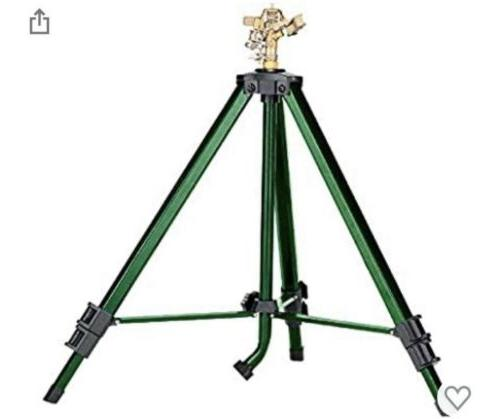 Orbit Tripod Base with Brass Green