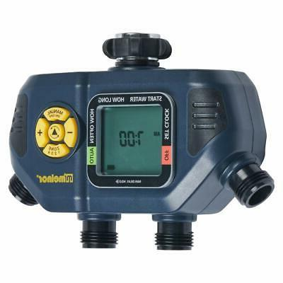 Melnor AquaTimer 4-Zone Digital Timer with Stainless Filter...