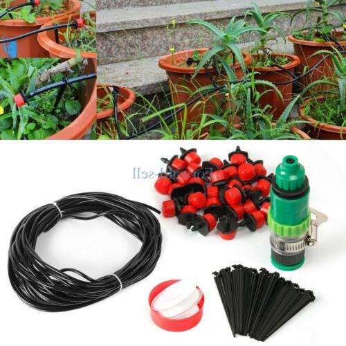 82ft Automatic Irrigation System Sprinkler Garden