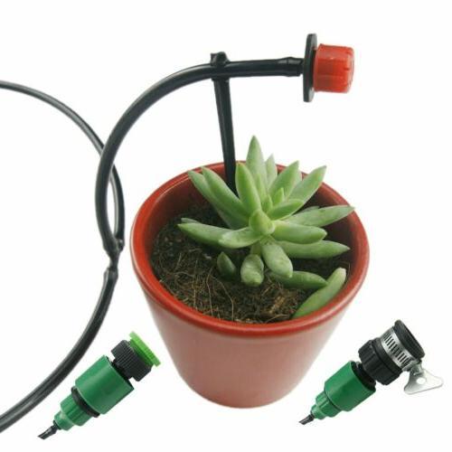 82ft Irrigation System Plant Timer Self Watering Hose Kit USA