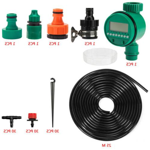 82ft water drip irrigation kits micro automatic