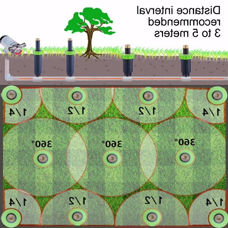 "90-360 Degree up <font><b>Sprinklers</b></font> Plastic <font><b>Sprinkler</b></font> <font><b>Head</b></font> Garden Spray Nozzle 1/2"" Thread"