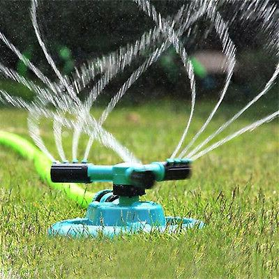 360° Rotating Lawn System Grass Watering Spray US