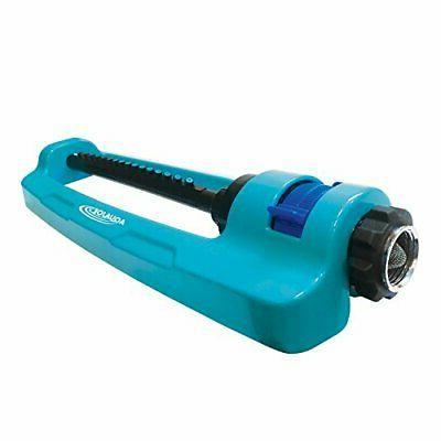 aqua joe indestructible oscillating sprinkler adjustable spr
