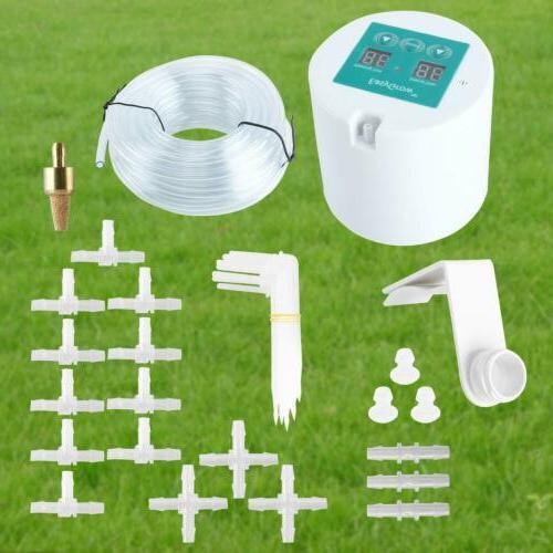 Micro Automatic Drip Irrigation Kit Timer Plant Self Waterin