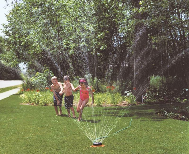 Dramm Metal Red ColorStorm 9-Pattern Premium Turret Sprinkler