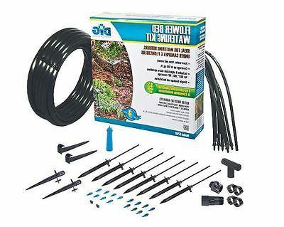 Flower Bed Watering Kit Garden Irrigation System Adjustable