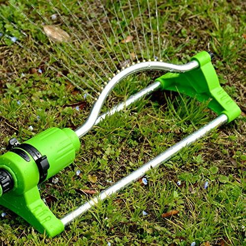 YeStar Garden Sprinkler with Touch Width Flow Control, to 3,600 Ft. Coverage