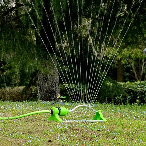 YeStar Garden Lawn Oscillating Sprinkler 17 with Touch Control Flow Water Up to Sq. Ft. Coverage
