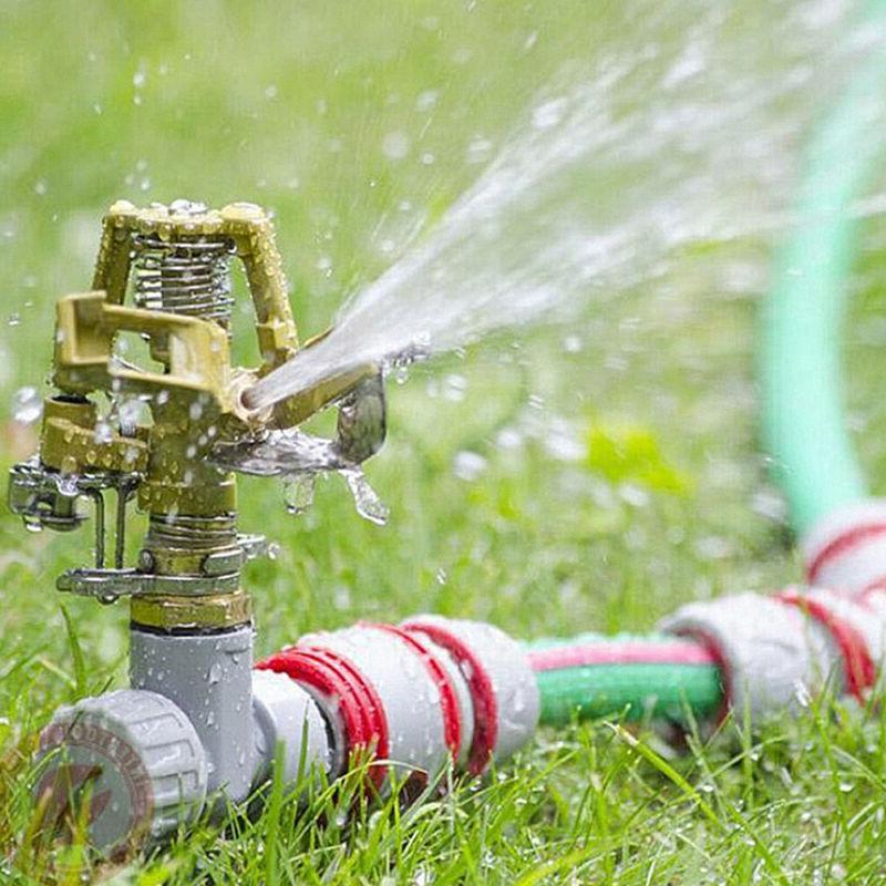 Garden Sprinkler 360 Degree Adjustable Water Impulse Spike Hose
