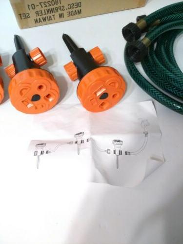 Garden/Lawn Sprinkler Set PC's Hoses Easy Assembly