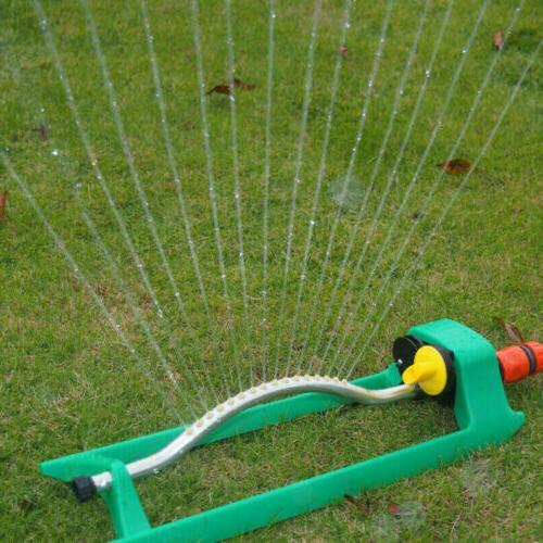 Garden Oscillating Lawn Sprinkler Grass Adjustable Spray