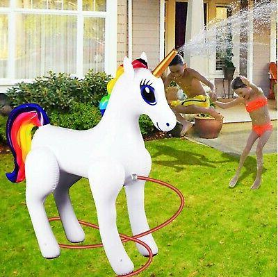 Giant Inflatable Sprinkler Unicorn for Yard
