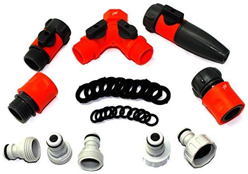 RAAYA Hose/Quick Connectors Hose Splitter Shut Rubber Washers, for: Outdoor Soaker, Drip Systems Bundle