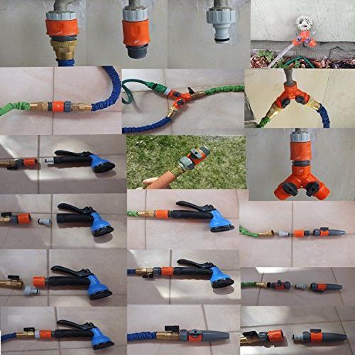 RAAYA Garden Set: Hose Hose Shut Off Rubber Soaker, Drip Systems Bundle