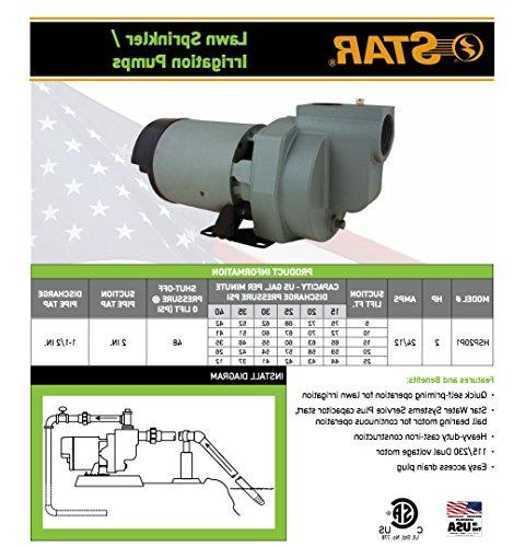Star HSP20P1 Cast Lawn Sprinkler Irrigation Pump in