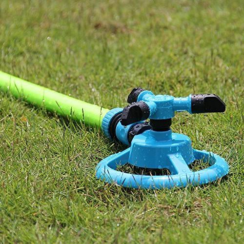 Kadaon Garden Water Sprinklers Lawn Irrigation System 3600 Feet Rotation 360°