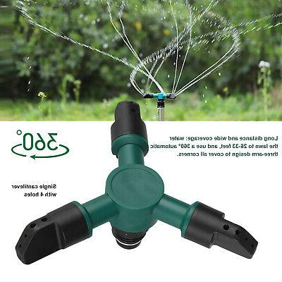 Lawn Automatic Garden Sprinklers Irrigation System 360° Rotation Yard New