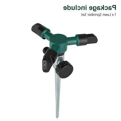 Lawn Automatic Sprinklers 360° Rotation New