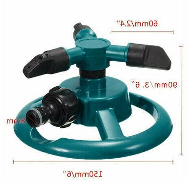 Lawn Automatic Water Sprinklers Rotation 360° US