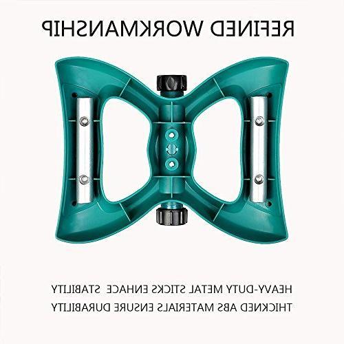 QSUBFPYK 360-degree Lawn Irrigation Large Area 3-arm Rod
