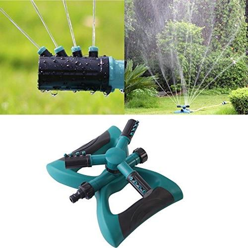 QSUBFPYK Lawn 360-degree Rotary Lawn System Large Area 3-arm with Rod