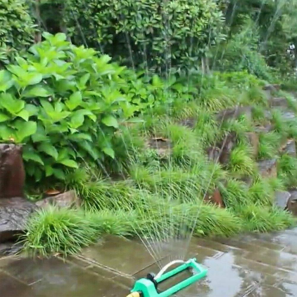 Lawn Sprinkler Oscillating Garden Pipe Hose Flow